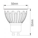 Світлодіодна лампа NVC GU10M 6W 3000K 38°