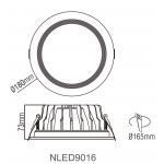Cветодиодный потолочный cветильник NVC NLED9016 20W 4000K белый