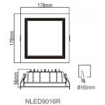 Світлодіодний світильник NLED9016R