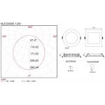 Светодиодная панель NVC NLED9305 12W 3000K