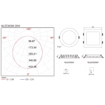 Светодиодная панель NVC NLED9306R 20W 4000K