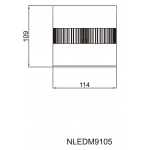 Світильник стельовий NVC NLEDM9105 20W 3000K