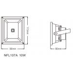 Світлодіодний Прожектор NVC NFL107A 10W 4000K чорний