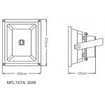 Світлодіодний прожектор NVC NFL107A 30W 4000K чорний