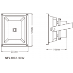 Светодиодный прожектор NVC NFL107A 50W 4000K черный