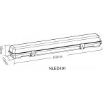 Светодиодный реечный cветильник NLED491 18W 4000K