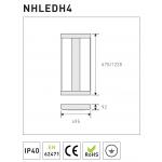 Светодиодная панель NVC NHLEDР4-675 165W 5000K 18000lm CRI>83 95град.