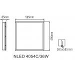 Светодиодная панель NLED4054C 36W 4000K 595x595