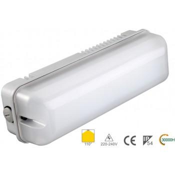 Реечный настенный светодиодный светильник IP54 NVC BULKHEAD 7W 3000K