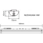 Світлодіодний настінно-стельовий світильник NVC NLED492A06 18W 4000K K48