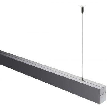 Світлодіодний світильник NVC NLILED495AM1200 W60 в алюмінієвому профілі 1200х60х68мм 30W 4000K 2450Lm