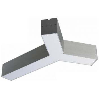 Врезной Y-образный модуль NVC NLILED495Y W60 в алюминиевом профиле 76х68мм 15W 4000K 1125Lm
