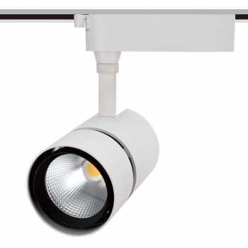 Трекові світильники TLED318 50W 3000K 24° білий 380