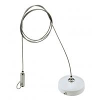 Регулируемый трос до 2 метров для подвеса шинопровода трековых светильников NVC TWSK-2M-99. Цвет белый.